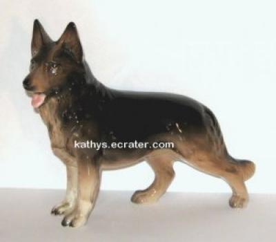 Japan Porcelain German Shepherd Dog Animal Figurine