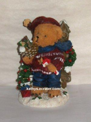 Resin Christmas Teddy Bear Animal Figurine