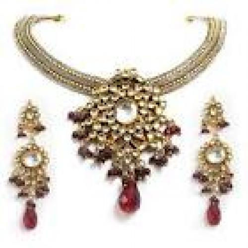 Fashion Jewelry Necklace. Kundan Set Jewelry