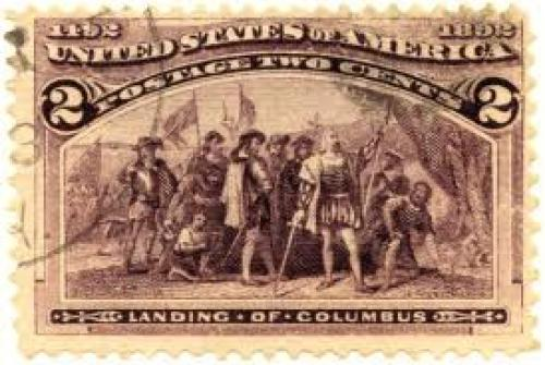 Stamps; :US stamp 1893 3c Landing of Columbus