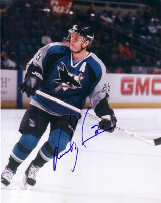Vincent Damphousse autographed San Jose Sharks 8x10 photo