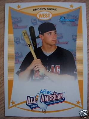 Andrew Susac 2008 AFLAC Bowman Rookie Card