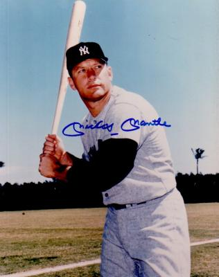 Mickey Mantle autographed New York Yankees 8x10 photo