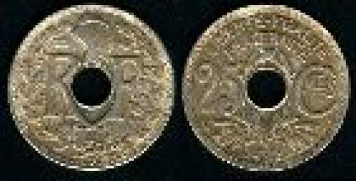 25 centimes; Year: 1917-1940; (km 867a)