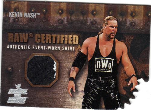 2002 fleer kevin nash raw certified