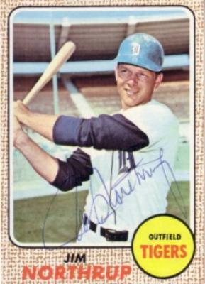 Jim Northrup autographed 1968 Topps Detroit Tigers card
