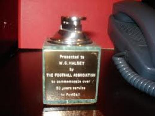 Memorabilia;  Memorabilia Lighter Presented to W.G.Halsey by The Football Association