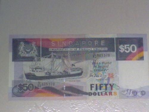 Singapore $50 Boat Series banknote