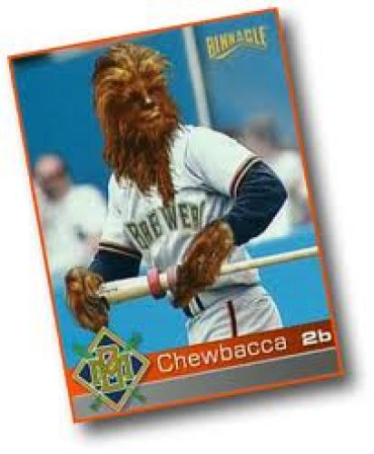 Baseball Card; The Milwaukee Brewers Chewbacca