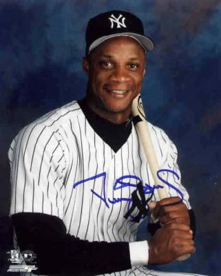 Darryl Strawberry autographed New York Yankees 8x10 photo