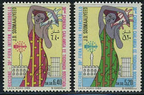Stamp fair Riccione 2v; Year: 1984