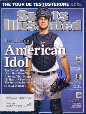 Joe Mauer autographed Minnesota Twins 2006 Sports Illustrated