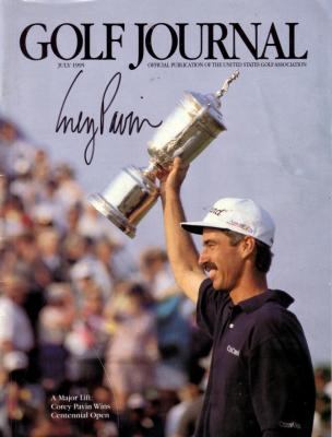 Corey Pavin autographed 1995 U.S. Open Golf Journal magazine