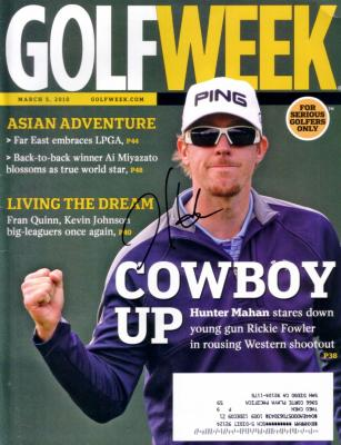 Hunter Mahan autographed 2010 Golfweek magazine