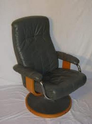 Antiques; Circa 1970; Antique_leather_reclining_chair
