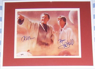 Mark Hamill & Phil Brown autographed Star Wars 8x10 photo matted & framed