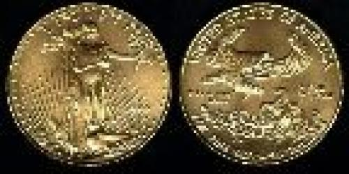 50 dollars; Year: 1986; One Oz. Gold Eagle