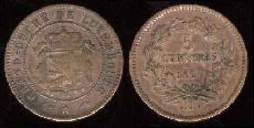 5 centimes 1855-1860 (km 22.2)