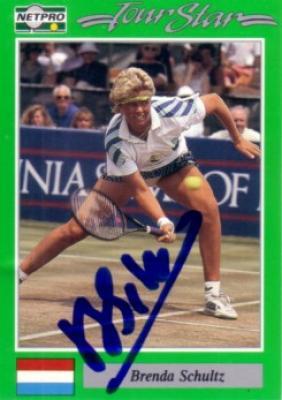 Brenda Schultz autographed 1991 Netpro tennis card
