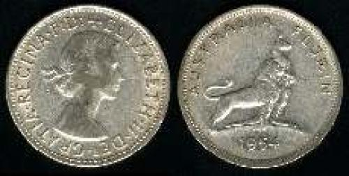 1 florin; Year: 1954; (km 55);  Royal Visit F:D: added
