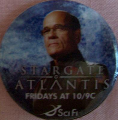 Stargate Atlantis promo button or pin (Robert Picardo as Richard Woolsey)