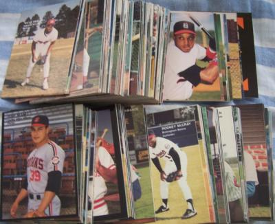 1990 Best minor league baseball card partial set (Jeff Conine Javy Lopez Bernie Williams)