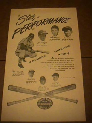 Original Louisville Slugger Poster