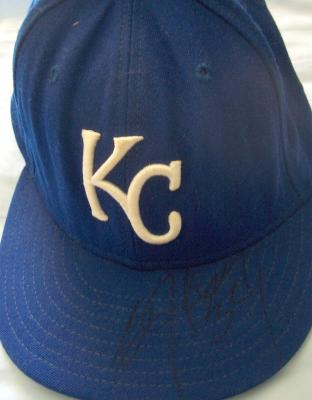 Bo Jackson autographed Kansas City Royals game model cap