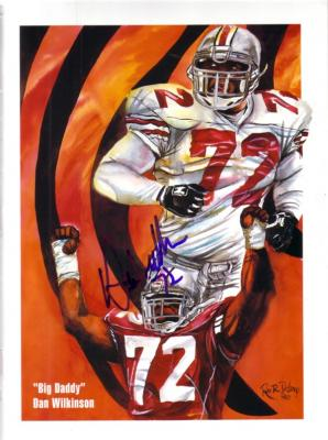 Dan Wilkinson autographed Ohio State 8x10 artwork