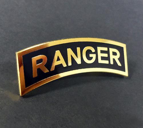 US Army RANGER tab Metal badge pin (Large size)