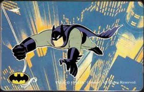 Batman The Animated Series Konica Phone Cards - Batman flying
