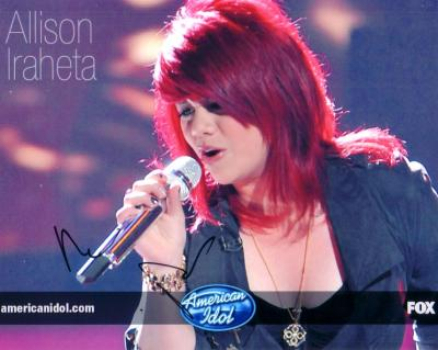 Allison Iraheta autographed 2009 American Idol 8x10 photo