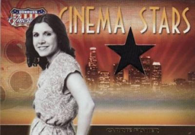 Carrie Fisher worn shirt swatch Donruss Americana card #237/250