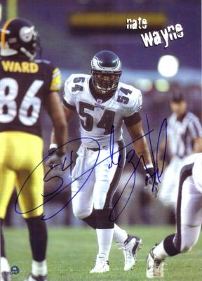 Nate Wayne autographed 8x10 Eagles photo