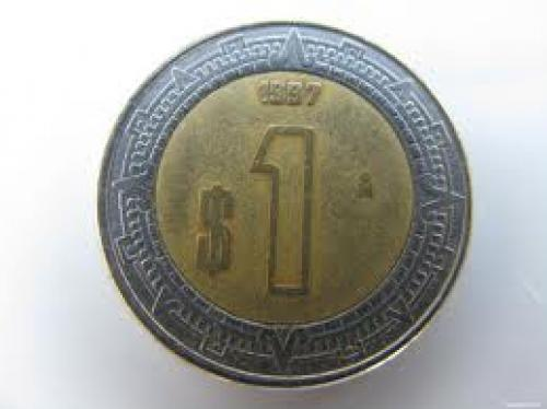 Coins; One Mexican Dollar Coin