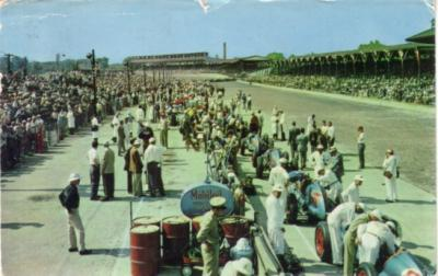 1950s Indianapolis Motor Speedway (Indy 500) postcard
