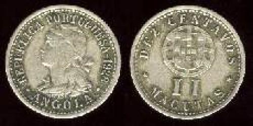 10 centavos 1927-1928 (km 67); 2 Macutas