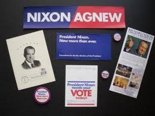 Memorabilia; Pres. Nixon; 1972 Campaign Ephemera (8 items)