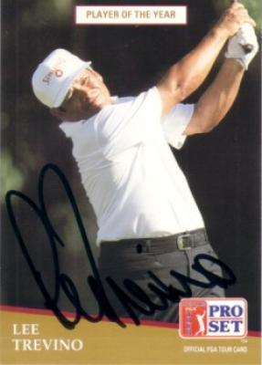 Lee Trevino autographed 1991 Pro Set golf card