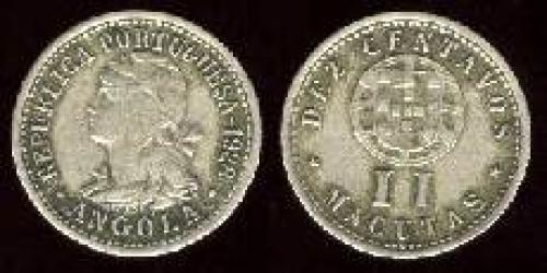 10 centavos; Year: 1927-1928; (km 67);  = 2 Macutas