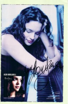 Norah Jones autographed Live in New Orleans DVD back cover