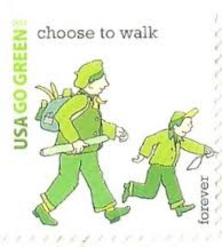 USA Stamp 2011 from the 'Go Green' series
