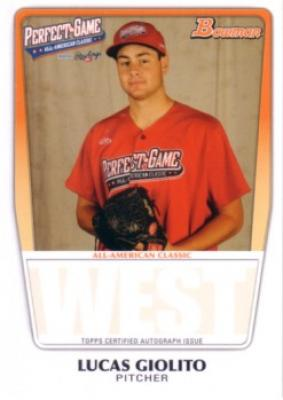 Lucas Giolito 2011 Perfect Game Topps Bowman Rookie Card (AFLAC)
