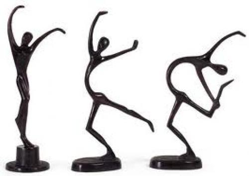 3-decorative-dancing-figurines Characters abound with joyful exuberance