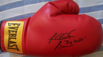 Riddick Bowe autographed Everlast leather boxing glove inscribed Big Daddy