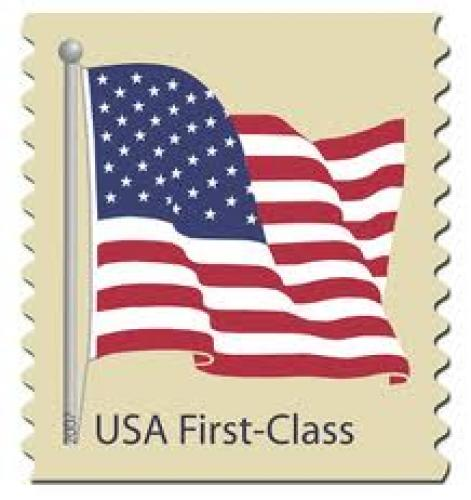 Stamps; 41-cent-flag-stamp Our first Fourth of July as a nation ;USA