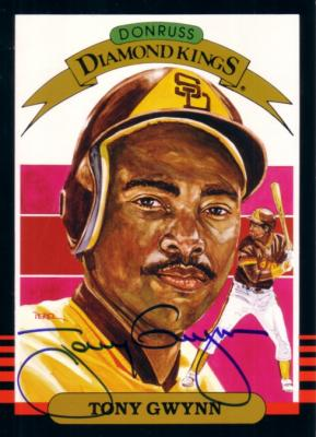Tony Gwynn autographed San Diego Padres 1985 Donruss jumbo 5x7 Diamond King card