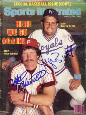 George Brett &amp; Mike Schmidt autographed 1981 Sports Illustrated