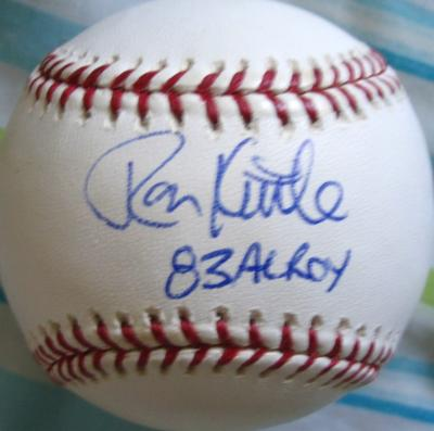 Ron Kittle autographed MLB baseball