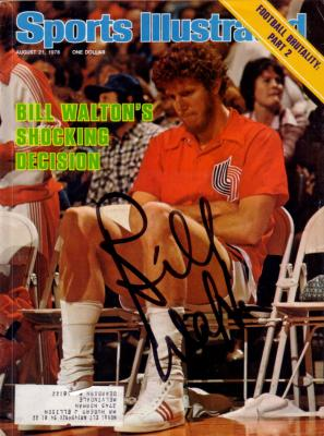 Bill Walton autographed Blazers 1978 Sports Illustrated